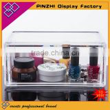 Cosmetic organizer makeup drawers Display Box Acrylic Clear Cabinet Cases Set