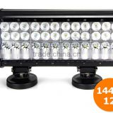 High power LED light bar 144w truck roof off road tractor light bar,144W led light bar for atv,suv,trucks offroad driving light