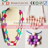 Hot Sale Fashion Jewelry,Wooden Necklace/BPA Free Silicone Jewelry