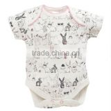 Easter Bunny Pattern Newborn Plain Cotton Baby Romper Children Clothings                                                                         Quality Choice