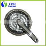 alloy electric bicycle crank and chainwheel bicycle crankset