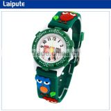 wholsale price chrismas gift kid watches children fashion water resistant anolog, cartoon owl silicone unique kids watches
