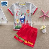 (TK1080) 6 colors grey 2-6Y Neat baby boy summer suits kids sets cheap china wholesale clothing