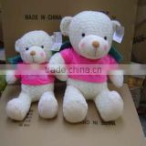 Professional Customized Cute Logo Branded Promotional Teddy Bear doll toy with embroidered LOGO