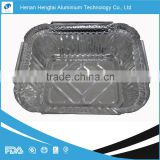 disposable aluminium foil food container with lid certified with FDA, SGS, HACCP, KOSHER
