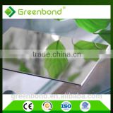 polished mirror sheet aluminum composite panel / acp sheet prices for bathroom wall covering