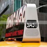 Truck Mobile Advertising Led Display/Outdoor Advertising Slim Taxi Top Roof Led Signn/taxi roof signs