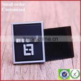 Factory private black white letter pvc rubber label for shorts apparel garment