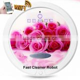 Newest WIFI smartphone App control wet and dry mopping remote control robot / electronic air cleaner