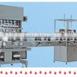 the filling of liquid products in cosmetic ,high - efficiency filling production line machine