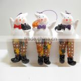 Halloween decorative hanging ceramic ghost decor