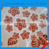 Custom 100% polyester super soft velboa flower printed plush designs fabric burnt out fabric
