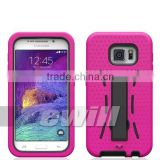 Hybrid Combo Case for Samsung Galaxy S6 with Ball Textured