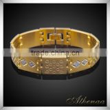 Men's Bracelet 18k Gold Plated Chunky Chain Bracelets Bangles Brass Male Jewelry Gift
