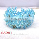 2015 new popular natural lake blue jade gravel bangle jewelry