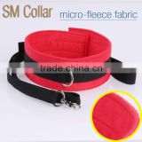 micro-fleece fabric collar, Sexy Toys PU chain collar with plush. couple room Interest collar