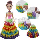 yiwu arts and crafts pretty girls dress up games for girls air dry clay craft toys girls buddies