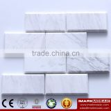IMARK Interior Design Volakas White Marble Stone Backsplash Mosaic Tile Wall Decoration