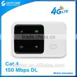 Best quality R95 4G LTE wireless power bank router wifi repeater with 2100mAh battery