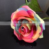 Cemetery decorations Bulk artificial fake real touch single stem roses satin flowers