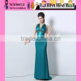 New Hot Sexy Fashion Mermaid Long Dress For Women Blue Color Evening Dress Wholesale Mermaid For Women Blue Color Evening
