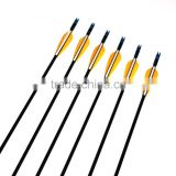 Wholesale CS Orange Fiberglass Arrow 80cm Spine 700 Feather Recurve Bow Arrow Fiber Arrows