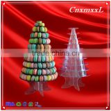 clear and black macaron box cookies boxes 1-10 layers 237 macarons diplay tower plastic stand packaging