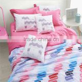 Colorful Stripes and Horses 100% Egyptian Cotton Bedding set