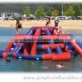 Floating park use Large inflatable structure for climbing,Water rocker climbing mountain for adults