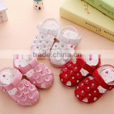 Wholesale flower soft sole baby leather shoes sandals