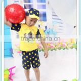 Baby swimwear swimsuit clothing set baby bodysuits boy Hot spring swimming trunks sunscreen conjoined + cap Little star