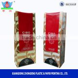 reusable aluminum foil coffee bag with one way degassing valve , tin tie