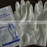 Color latex exam disposable food grade powdered gloves