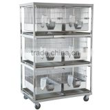 Rabbit cage with dry rack Mesh stainless steel