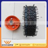 6 inch small pneumatic wheel 6x2