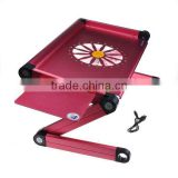 Portable Folding Notebook Laptop PC Table with USB Cooler Cooling Fan Red