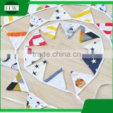 Promotional Christmas gift handmade Wedding Birthday Party Decoration baby fabric bunting flag banner