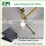 solar ceiling fan new product with AC/DC power adapter