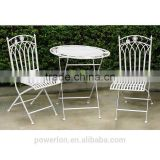 Fabulous french style bistro set wrought iron 2 chair 70cm table