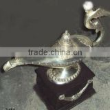 Aladdin genie lamp with wooden base , aladdin wonder lamp, aladdin table lamp, aladdin magic lamp, aladdin metal lamp