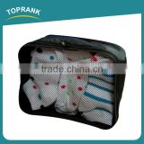 Toprank Durable Hot Selling Polyester Mesh Storage Bag Zipped Clothes Travel Organizer Bag Recycled Mesh Shoe Bag