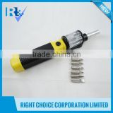 Hand tools ABS and chrome-vanadium steel (CRV) bits 0.15kgs impact 6 in 1 Twist Screwdriver bits