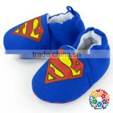 Cheap Baby Purple Shoe Cotton S Symbol Super Man Design Infant Shoe Baby Wool Crib Shoes For 0-1 year Newborn Baby
