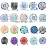 150cm Round beach towel Home textile microfiber towel printed with tassel High quality Knitted Bath Towel serviette de plage