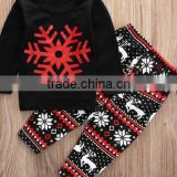 2017 Baby boutique wholesale fashion nova clothing snow flower designs Christmas girls outfit online shopping China clothes