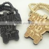 Hip-Hop Fashion Good Wood Ball Bead Chain Wooden Necklace