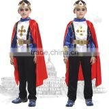 Prince design boys halloween clothes with cape and imperial crown