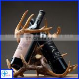 Resin Deer Antler Wine Rack,Bottle Holder Figures,Artificial win rack with several bottles