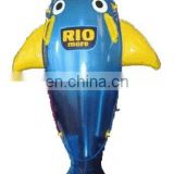 Inflatable animal pool rider for child