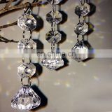 party decor wedding garland diamond clear acrylic crystal lamp pendant